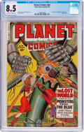 Golden Age (1938-1955):Science Fiction, Planet Comics #64 (Fiction House, 1950) CGC VF+ 8.5 Off-white to white pages....