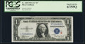 """Small Size:Silver Certificates, Fr. 1609 $1 1935A """"R"""" Silver Certificate. PCGS Superb Gem New 67PPQ.. ..."""