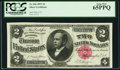 Large Size:Silver Certificates, Fr. 246 $2 1891 Silver Certificate. PCGS Gem New 65PPQ.. ...