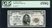 Fr. 1850-C $5 1929 Federal Reserve Bank Note. PCGS Superb Gem New 67PPQ