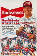 Autographs:Others, Mickey Mantle Signed Budweiser Display. . ...