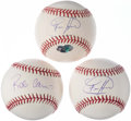 Autographs:Baseballs, Seattle Mariners Single Signed Baseball Lot of 3 with Cano &Hernandez.. ... (Total: 3 items)