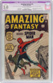 Amazing Fantasy #15 (Marvel, 1962) CGC Apparent GD 2.0 Slight (A) Off-white to white pages