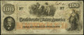Confederate Notes:1862 Issues, T 41 $100 1862 PF-7 Cr. 317.. ...