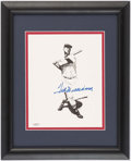 Autographs:Others, Ted Williams Signed Framed Print.. ...