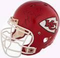 Football Collectibles:Helmets, c. 2008 Jon McGraw Signed, Game Used Kansas City Chiefs Helmet.. ...