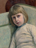 Fine Art - Painting, European:Modern  (1900 1949)  , Georges Emile Lebacq (Belgian, 1876-1950). Portrait of the artist's son as a child, 1910. Oil on canvas. 19 x 14 inches ...