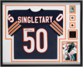 Football Collectibles:Uniforms, Mike Singletary Signed Replica Jersey Display Frame.. ...