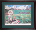 Autographs:Others, Carl Yastrzemski Signed, Framed Print.. ...