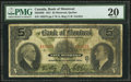 Canadian Currency, Montreal, PQ- Bank of Montreal $5 Jan. 2, 1931 Ch. # 505-58-02. ...