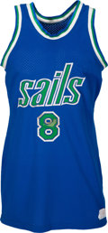 Basketball Collectibles:Uniforms, 1975-76 Lee Davis Game Worn ABA San Diego Sails Jersey with Player Letter - Team Played Eleven Games Before Folding.. ...
