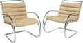 Furniture , Ludwig Mies van der Rohe (German, 1886-1969). Pair of MR Lounge Chairs, designed 1927, of recent production, Knoll. Chro... (Total: 2 Items)