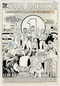 Original Comic Art:Splash Pages, Mike Vosburg and Vince Colletta Team America #2 Splash PageOriginal Art (Marvel Comics, 1982)....