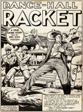 Original Comic Art:Splash Pages, Al Feldstein Crime Patrol #10 Splash Page 1 Original Art(EC, 1949)....