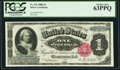 Large Size:Silver Certificates, Fr. 221 $1 1886 Silver Certificate PCGS Choice New 63PPQ.. ...