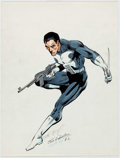 Original Comic Art:Illustrations, Frank Miller and Joe Rubinstein - Punisher Illustration OriginalArt (1982)....