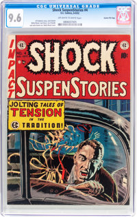Shock SuspenStories #4 Gaines File Pedigree 7/12 (EC, 1952) CGC NM+ 9.6 Off-white to white pages