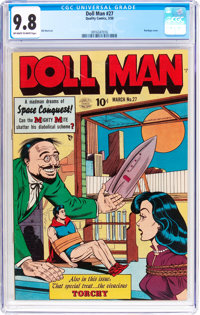 Doll Man #27 (Quality, 1950) CGC NM/MT 9.8 Off-white to white pages