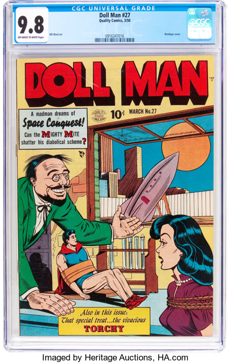 Doll Man #27 (Quality, 1950) CGC NM/MT 9.8 Off-white to white pages....