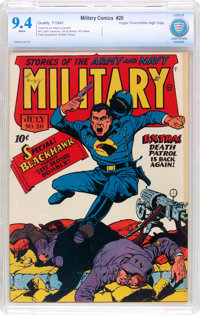 Military Comics #20 Mile High Pedigree (Quality, 1943) CBCS NM 9.4 White pages
