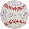 Autographs:Baseballs, 2011 Detroit Tigers Team Signed Baseball (28 Signatures).. ...