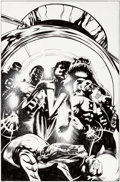 Original Comic Art:Covers, Patrick Gleason and Prentis Rollins Green Lantern Corps: Recharge #5 Cover Original Art (DC, 2006)....