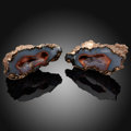 Minerals:Cabinet Specimens, Crater Agate Pair. Chubut Province. Argentina. ...(Total: 2 Items)