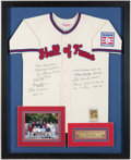 Autographs:Jerseys, Baseball Hall of Fame Multi-Signed Jersey (11 Signatures).. ...