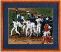 Autographs:Photos, 1986 New York Mets Multi-Signed Oversized Photograph. ...