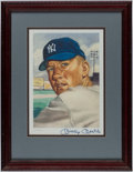 Autographs:Others, 1953 Topps Mickey Mantle Limited Edition Signed Lithograph....
