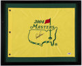 Autographs:Others, 2004 Masters Arnold Palmer Signed Golf Flag. . ...
