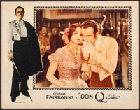 """Don Q, Son of Zorro (United Artists, 1925). Lobby Card (11"""" X 14""""). Swashbuckler"""