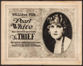 """Movie Posters:Comedy, The Thief (Fox, 1920). Title Lobby Card (11"""" X 14""""). Comedy.. ..."""