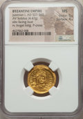 Ancients:Byzantine, Ancients: Justinian I the Great (AD 527-565). AV solidus (4.47 gm)NGC MS 5/5 - 4/5....