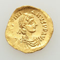 Ancients:Byzantine, Ancients: Justinian I the Great (AD 527-565). AV tremissis (1.42gm). XF....