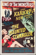 "Movie Posters:Horror, The Haunted Strangler (MGM, 1958). One Sheet (27"" X 41""). Horror....."