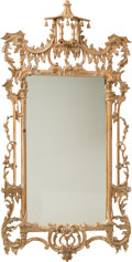 Decorative Arts, Continental:Other , A Pair of Chinese Chippendale-Style Carved Wood Mirrors, Italy,20th century . Marks: MADE IN ITALY. 62-1/2 x 31-3/4 x 3...(Total: 2 Items)