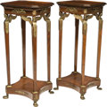 Furniture , A Pair of Empire-Style Mahogany and Bronze Mounted Table Stands, 20th century. 46-1/2 x 19-3/4 x 19-3/4 inches (118.1 x 50.2... (Total: 2 Items)