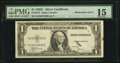 Error Notes:Obstruction Errors, Obstruction Error. Fr. 1612 $1 1935C Silver Certificate. PMG Choice Fine 15.. ...