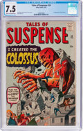 Silver Age (1956-1969):Science Fiction, Tales of Suspense #14 (Marvel, 1961) CGC VF- 7.5 Cream to off-whitepages....