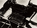Photographs, Beaumont Newhall (American, 1908-1993). Charis Weston's Typewriter, 1940. Gelatin silver. 10 x 13-1/8 inches (25.4 x 33....