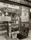 Photographs, Berenice Abbott (American, 1898-1991). Mary Muller Antique Shop I, Greenwich Ave. and W. 10th Street, circa 1947. Gelati...