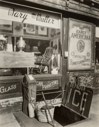 Berenice Abbott (American, 1898-1991) Mary Muller Antique Shop I, Greenwich Ave. and W. 10th Street, ci