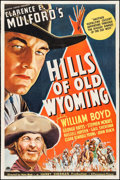 "Movie Posters:Western, Hills of Old Wyoming (Paramount, 1937). One Sheet (27"" X 41""). Western.. ..."