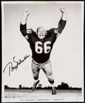 Football Collectibles:Photos, c. 1960s Ray Nitschke Signed Vintage Photograph.. ...