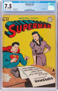 Golden Age (1938-1955):Superhero, Superman #27 (DC, 1944) CGC VF- 7.5 Cream to off-white pages....