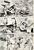 Original Comic Art:Panel Pages, Jack Kirby and Syd Shores Captain America #108 Page 16 Original Art(Marvel, 1968)....