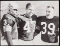 Football Collectibles:Photos, 1967 Green Bay Packers Pitts, Starr, & Taylor Vintage Photograph - Super Bowl I Champs.. ...