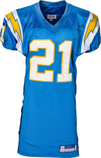 2002 LaDainian Tomlinson Game Worn, Unwashed San Diego Chargers Throwback Jersey - Photo Matched to 11/3 vs. Jets