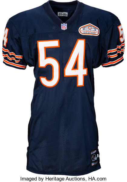 pretty nice a2310 b3975 2001 Brian Urlacher Game Worn, Unwashed Chicago Bears Jersey ...